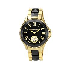 Vince Camuto Goldtone & Black Ceramic Bracelet Watch