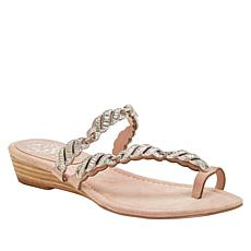 Vince Camuto Inaya Leather Jeweled Toe-Loop Sandal