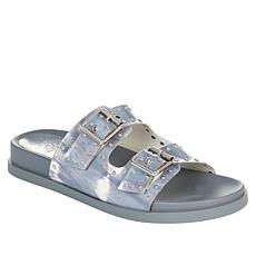 Vince Camuto Pavey Buckled 2-Band Slide Sandal with Studs