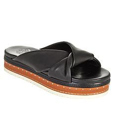 Vince Camuto Rareden Twisted Leather Platform Slide Sandal