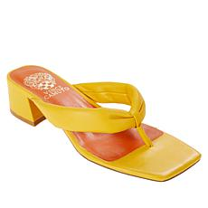 Vince Camuto Sabrinda Leather Block Heel Thong Sandal