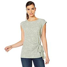 Vince Camuto Soft Texture Mixed Media Top