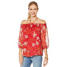 Vince Camuto Wildflower-Print Halter-Neck Blouse