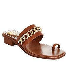 Vince Camuto Yamell Leather Toe-Loop Slide Sandal