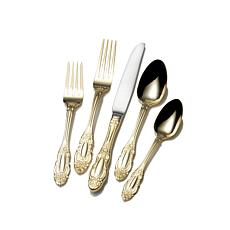 Wallace Duchess Gold-Plated 65-piece Flatware Set