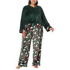 Warm & Cozy Plus V-Neck Pajama Set