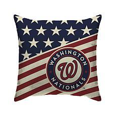 "Washington Nationals 18""X18"" Duck Cloth  Décor Pillow"