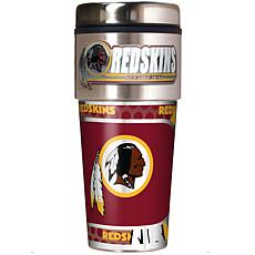 Washington Redskins Travel Tumbler w/ Metallic Graphics and Team Logo