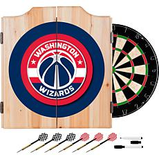 Washington Wizards Beveled Wood Dart Cabinet