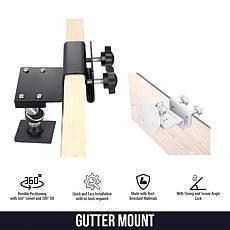 Wasserstein Ring-Compatible Security Camera Gutter Mount