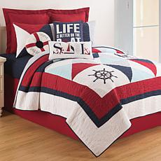 Waterborne Full/Queen Quilt Set