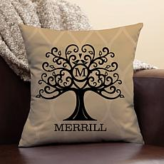 Welcome Tree Personalized Throw Pillow