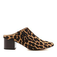 Wendy Williams Hair Calf Mule with Block Heel