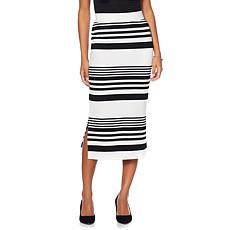 Wendy Williams Ottoman Rib Knit Midi Skirt