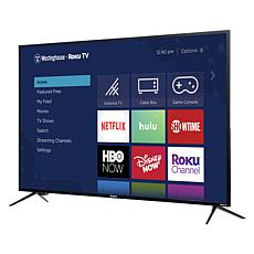 "Westinghouse 55"" 4K UHD Smart TV with Built-In Roku & 2-Year Warranty"