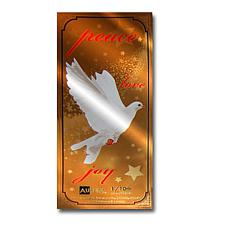 White Dove   24K Gold Aurum Collectible Note