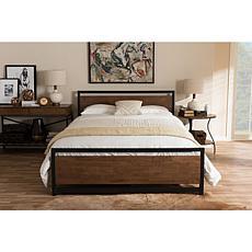 Wholesale Interiors Gabby Black Metal Platform Bed - Queen