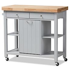 Wholesale Interiors Hayward Wood Kitchen Cart