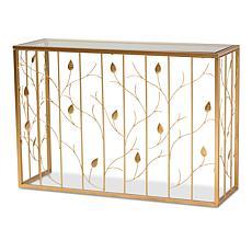 Wholesale Interiors Levi Two-Tone Wood Desk with Shelves