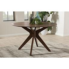 "Wholesale Interiors Monte 47"" Round Dining Table - Walnut"