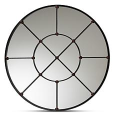 Wholesale Interiors Ohara Black Finished Metal Accent Wall Mirror