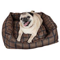 Wick-Away Plaid Rectangular Dog Bed - Small