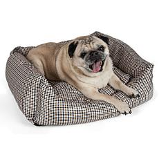 Wick-Away Plaid Rectangular Dog Bed - X-Small