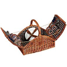 Willow Picnic Basket and Service for Four