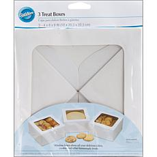 "Wilton Large Treat Box 8"" X 8"" X 4"" 3-pack - White"