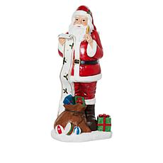 "Wind and Weather 55"" Santa Claus Painted Resin Statue"