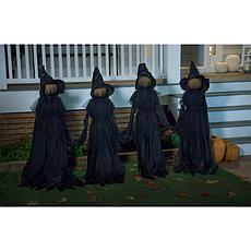 Wind and Weather Halloween LED Witch Stakes - Set of 4