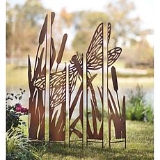 Wind and Weather Metal Painted Panels Garden Screen