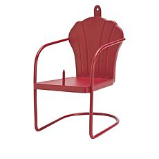 Wind and Weather Metal Retro Chair Squirrel Feeder