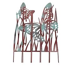 Wind and Weather Painted Metal Garden Panels