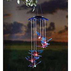 Wind and Weather Solar Butterfly Color-Changing Mobile 2-pack