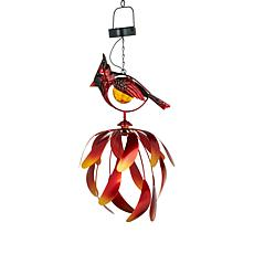 Wind and Weather Solar Knitect Hanging Bird Spinner