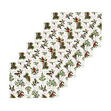 Winter Botanical Placemat Set of 6