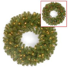 """Winter Lane 24"""" Battery-Operated North Valley Wreath"""