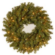 """Winter Lane 24""""  Norwood Fir Wreath w/Lights"""