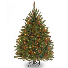 Winter Lane 4-1/2' Dunhill Fir Hinged Tree w/Multicolor