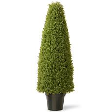 Winter Lane 4' Artificial Topiary Boxwood Tree