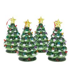 Winter Lane 4-piece LED Lit Christmas Tree Ornaments