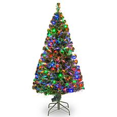 Winter Lane 5' Crestwood Fiber Optic Evergreen Tree