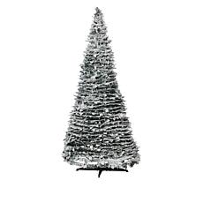 Winter Lane 6' Pop-Up Flocked Pine Pre-Lit Christmas Tree