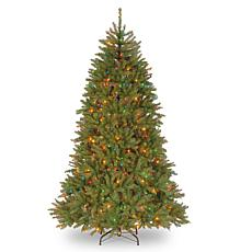 Winter Lane 7-1/2' Dunhill Fir Hinged Tree w/Multicolor