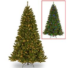 Winter Lane 7-1/2' N. Valley Spruce Hinged Tree w/LED Lights