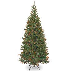 Winter Lane 7' Aspen Spruce Hinged Tree w/Multicolor