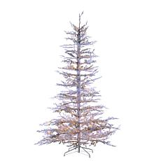 Winter Lane 7.5' Prelit Flocked White Twig Tree