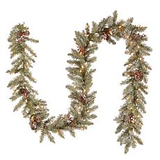 Winter Lane 9' Dunhill Fir Garland w/Lights