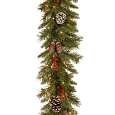 Winter Lane 9' Frosted Berry Garland w/Lights